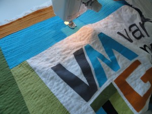 Arita quilted our VMQG Banner!