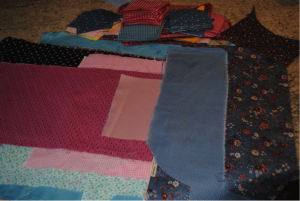 Pam's fabric selections