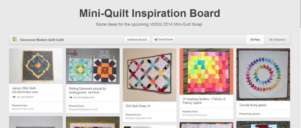 vmqg mini quilt pinterest board