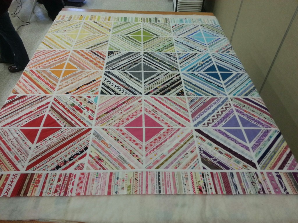 Krista's selvage quilt