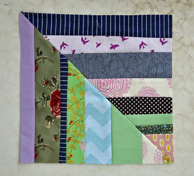 july stripy block