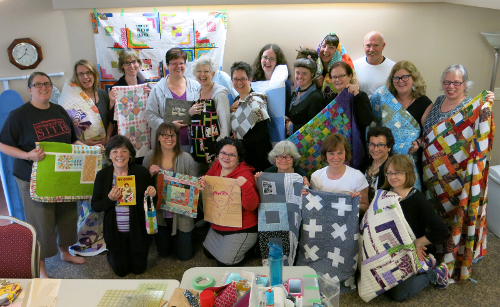 Happy quilters at the May 2014 VMQG Retreat