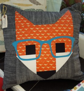 fancy fox pillow